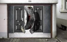 3D Reifen Garage Tür Wand Druck Abziehbild Wand AJ WALLPAPER DE Lemon