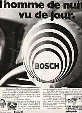 """Publicité Ancienne """" Projecteurs Bosch   1969 """""""