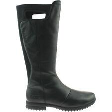 femmes Bogs Alexandria Noir Haut imperméable bottes cuir 71576