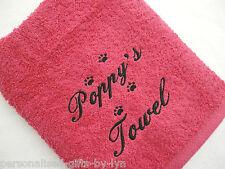 Personalizzata Cane Asciugamano - a mano o Bagno, scelta di colori.