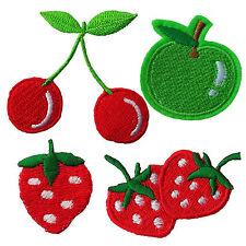 Cherry Apple Fresa Frutas Hierro Coser apliques Parches pequeño logotipo bordado