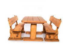 Gartenmöbel Garnitur Rustikal Massiv Holz - Verschiedene Ausführungen