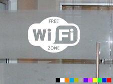 Free WiFi Zona adesivo porta finestra Internet Cafe Bar Pub Ufficio Divertente Decalcomania