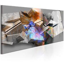 LEINWAND BILDER XXL KUNSTDRUCK WANDBILD ABSTRAKT 3D OPTIK 3D EFFEKT f-A-0617-b-a