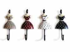 Clayre & Eef Garderobenhaken Schmuckhaken Petticoat Rockabilly Mannequin - 11 cm