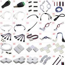 Tira de LED luz conector adaptador Cable Clip PCB Solderless 5630 5050 3528 RGB