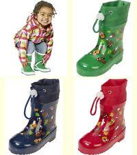 Playshoes Stiefel gefüttert Mädchen Jungen Kinder Baby Gummistiefel Schuhe 18-27