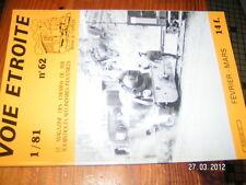 Voie Etroite n°62 Expo 1889 Abreschviller