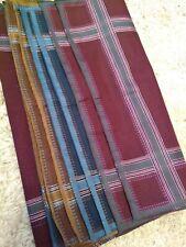 Men's handkerchief (satin) 30 x 30 cm (RED, Blue, BROWN) 11.8 Inch - 100% Cotton