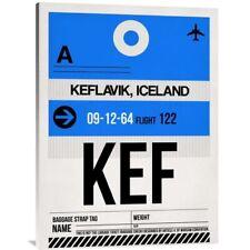 NAXART Studio 'KEF Keflavik Luggage Tag I' Stretched Canvas Wall Art
