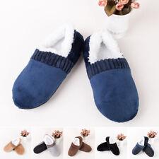 Men Winter Warm Slippers House Floor Socks Anti-slip Indoor Sandals Fleece Shoes