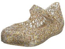 Genuine New Mini Melissa Campana Zig Zag shoes Gold Glitter - size 5-10 toddler