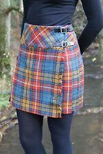 Ladies Authentic Shetland Wool Mini Kilt Buchanan Antique Tartan TG0801