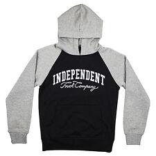 Felpa Independent Youth Hoody Letterman Black Dark - Ragazzo