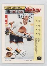 1992-93 Panini Album Stickers #29 Geoff Courtnall Vancouver Canucks Hockey Card