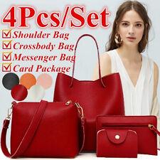 4Pcs Women Pattern Leather Handbag & Crossbody Bag+Messenger Bag+Card Package