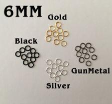 Black Gold Silver Gun Metal Open Jump Rings Round Split Ring Circle Necklace 6mm