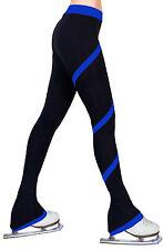 Ice Figure Skating Dress Practice Polar Fleece Spiral Trousers Pants -Royal Blue