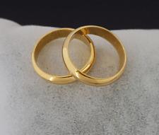 Klassischer Ring Goldring 18 Karat Gold GP Verlobungsring Ehering Damen Herren