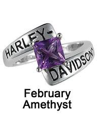 Harley-Davidson® February Birthstone Ring - Amethyst - size 5  D4J8791