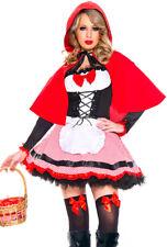 Music legs womens adult little red riding hood dress