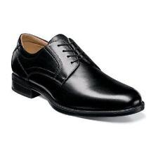 Florsheim Mens shoes Midtown Plain Toe  Black lace up Leather 12135-001 Wide EEE