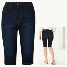 Ladies M&S Collection SCULPT & LIFT Knee Length Denim Shorts Blue Sizes 6 - 20