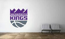 Sacramento Kings Logo Wall Decal NBA Basketball Decor Sport Mural Vinyl Sticker