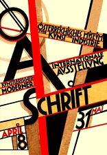 1926 Bauhaus austriaca de exposiciones de arte Ausstellung A3 Cartel re impresión
