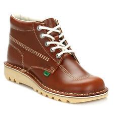 Kickers homme bottines marron clair Kick hi en cuir à lacets hiver chaussures 1-11694