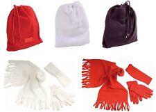 Set in polar 3 pezzi - sciarpa 137x33 cm - fascia paraorecchie - guanti da donna