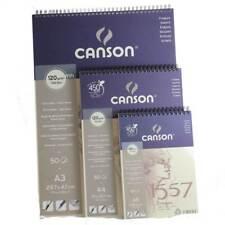 Canson 1557 A5 A4 A3 Sketch Pad Book Spiral Bound 120gsm Artsist Papier à dessin