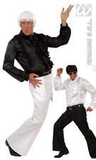 discothèque pantalon, années' 70 ans blanc ou noir, Costume Homme M/L + XL/XXL