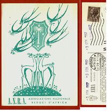 ANRA, ASS. NAZ. REDUCI D'AFRICA, AUGURI 1967 DA ROMA  m