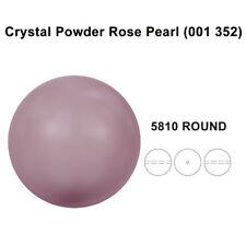 CRYSTAL POWDER ROSE PEARL (001 352) Genuine Swarovski 5810 Round *All Sizes