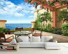 3D Garten MIT meerblick 409 Fototapeten Wandbild Fototapete BildTapete Familie