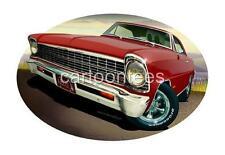 1967 SS Muscle Car Cartoon T-shirt #6745 Nova Replica Automotive Art
