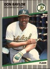 1989 Fleer Glossy Baseball #1 - #254 Choose Your Cards