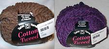 Tahki Cotton Tweed Worsted Italian Yarn Color Choice Loom Knit Crochet Free Ship
