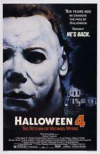 Halloween 4 HORREUR Affiche A4 A3 A2 A1 CINEMA FILM grand format