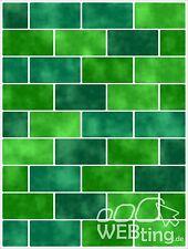 20x25cm Grün Fliesenaufkleber Fliesen Aufkleber Fliesenimitat Mosaik M9