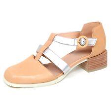 E5604 (WITHOUT BOX) decollete donna beige/silver CAMPER scarpe shoe woman