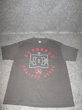 Mens Genuine DC Casual Fashion skate bmx Tee T-Shirt S M L XL XXL black/red DC34