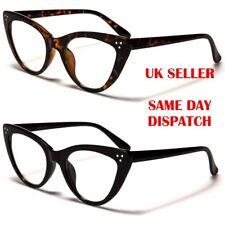 New Quality Nerd Cat Eye Designer Womens Clear Lens glasses 097 100%UV400