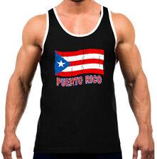 New Puerto Rico Distressed Flag Men's Tank Top WT T Shirt Boricua Pride PR Retro