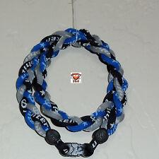 Phiten Triple Braid - Black/Royal Blue/Gray Custom