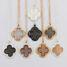 2018 Fashion New Cutout Filigree Short Chain Clover Choker Statement Necklaces