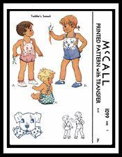 Sunsuit Playsuit BABY BOY GIRL Beach Sewing Pattern McCALL 1099 Bunny & Dog BIB