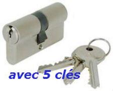 CYLINDRE SERRURE EUROPEEN 30/40 AVEC 5 CLES