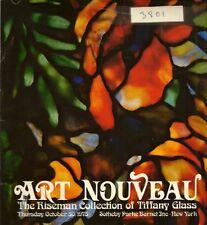 Sotheby's Jugendstil Tiffany Glas Lampe RISEMAN Sammlung Auktion Katalog 1975